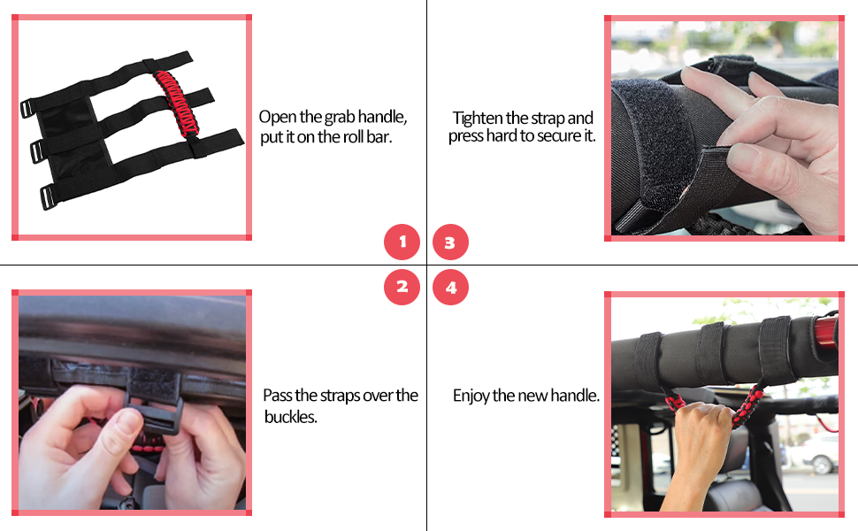 roll bar grab handle for jeep
