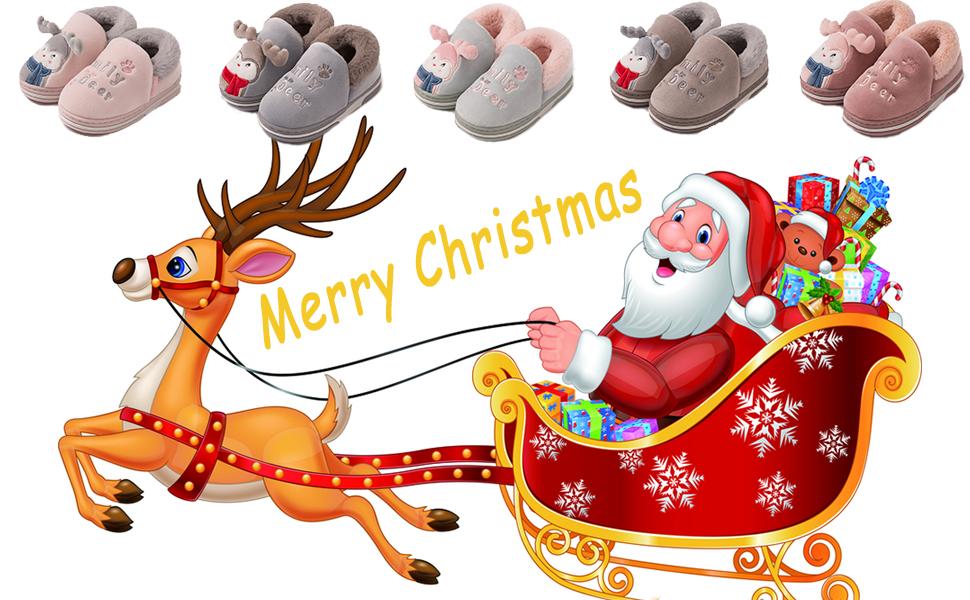 Zapatillas de casa Invierno para Niñas Niños Pantuflas de Cálido Antideslizante Peluche