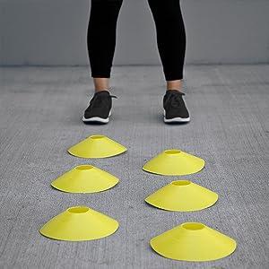 yellow cones