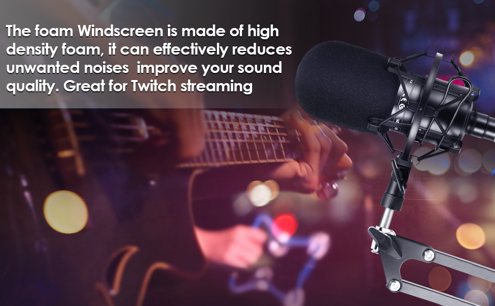 High Quality Foam Windscreen fits most condenser mics