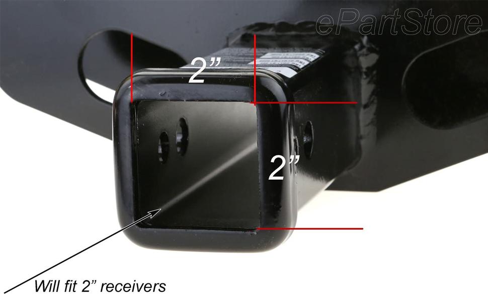 Black Hitch Cover Plug In