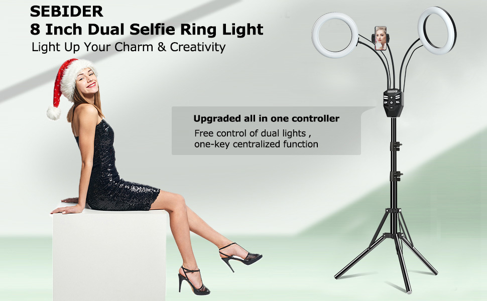 led double ring light with stand