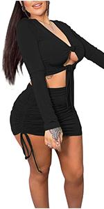 Sexy 2 Piece Skirt Set