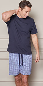 lounge short pyjama short trousers for men man relax sleep lounging house day off holidays