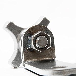 Jack handle keeper weld detail