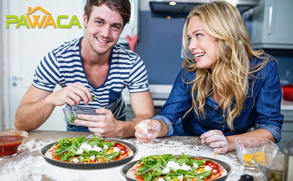 2 plateaux à pizza