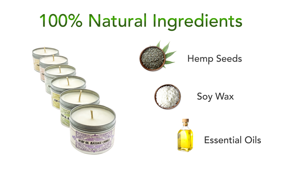 New Ingredients - Massage candles