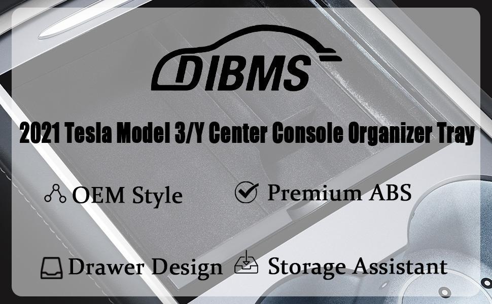 2021 Tesla Model 3 Model Y Center Console Organizer Tray