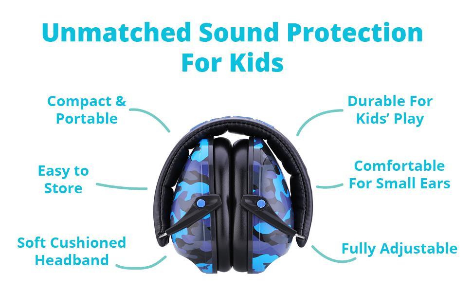 Snug Safe N Sound Kids Earmuffs Hearing Protectors Adjustable Headband Purple for sale online