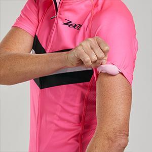 Women's moisture wicking cycling jersey