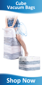 Cube Vacuum Space Saver Bags Vacuum Storage Bag Vacuum Sealer Bag for Clothes, Blankets, Quilts