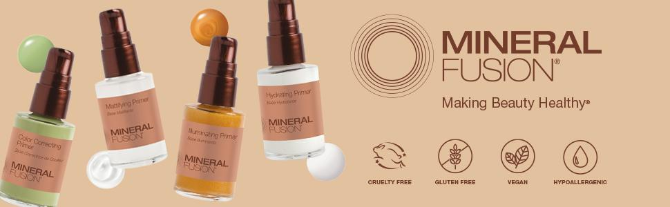 mineral fusion primers, natural cosmetics