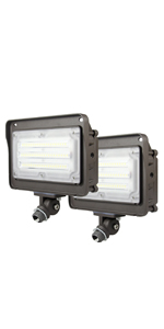 LED flood light with photocell 2 Pack