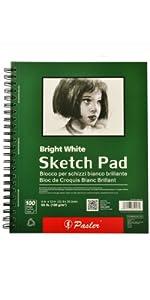 Sketch pad bright white 12x9
