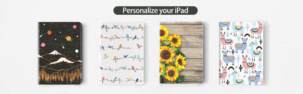 A wide range of colors and patterns to personalize your iPad