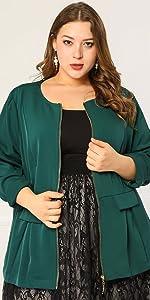 plus size green jacket