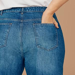 Zizzi jeans gut sitsende grosse grössen mit schlitz amy emily sally sanna 44 46 48 xxl