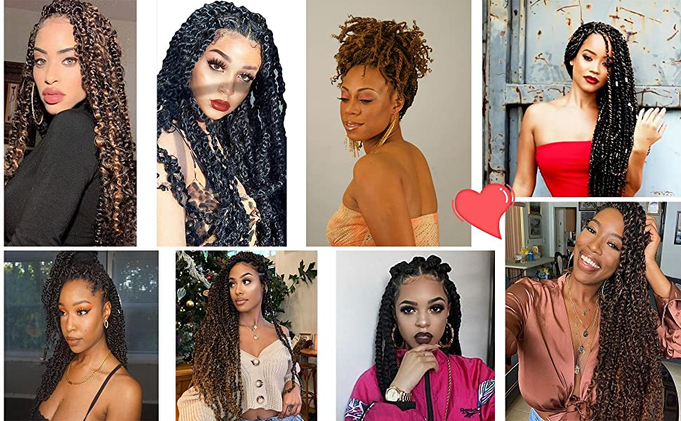 ombre braiding hair models pretwisted passion
