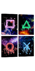 Game Buttons Canvas Wall Art decor for boys bedroom