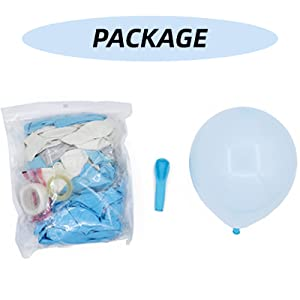 Package of blue balloon garland arch kit,baby shower decorations for boy girl,birthday graduation