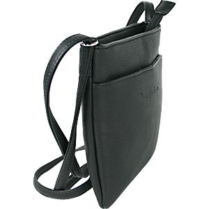 Kleine Schultertasche mit Reißverschluss und verstellbarem Schultergurt