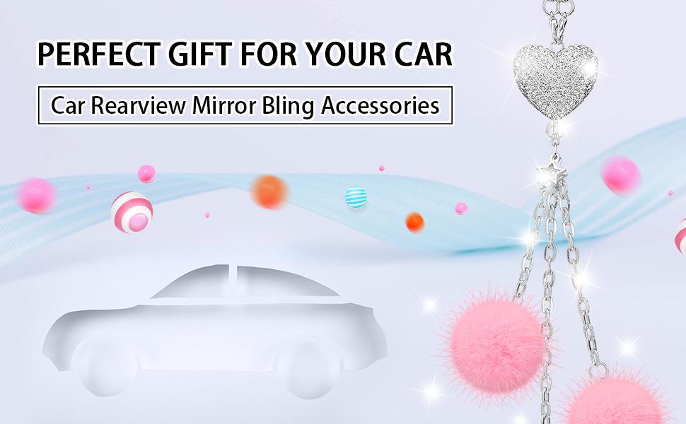 review mirror decor for car