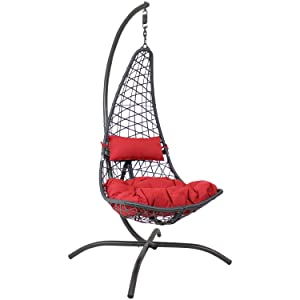 Phoebe Chair with Red Cushions