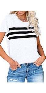 Short sleeve color block t-shirts