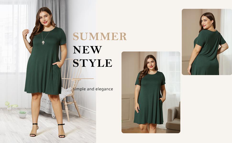 women short sleeve dress