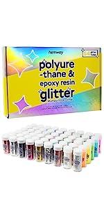 Polyurethane Epoxy Glitter for resin art, tumblers, wax melts, jewellery, resin art, tables, glass