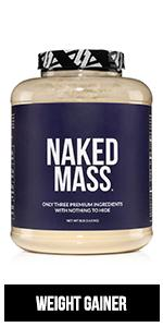 naked mass weight gainer