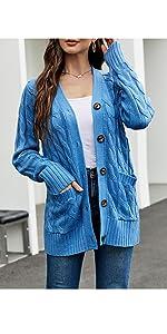 blue carigan top