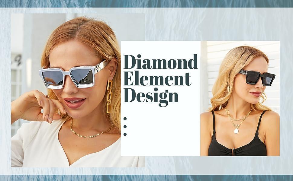 Diamond decoration design, retro trend style