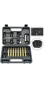Roll Pin Punch Set Including Bench Block and Gun Cleaning Mat
