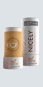 Unscented Organic Nicely Natural Deodorant - 3.0 oz, Aluminum Free, Unisex Scent
