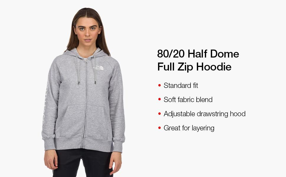 half dome full zip hoodie, casual, comfort, comfortable, soft, hood, sweatshirt