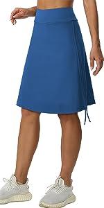 Womens 20amp;amp;#34; Knee Length Skorts Skirts