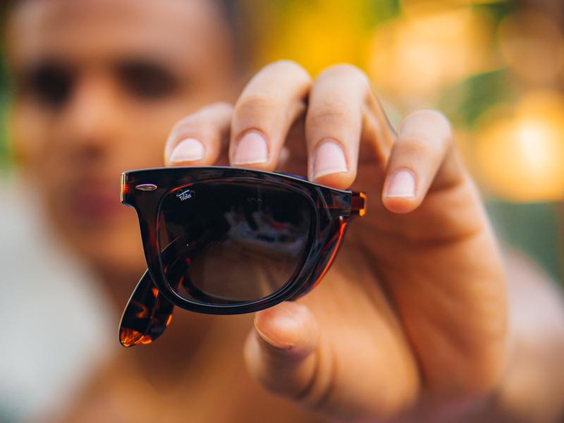 Mens folding sunglasses