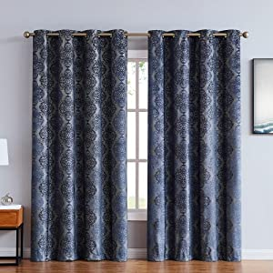 roberta curtains blackout panel pair insulated thermal embossed patio door drape textured 100 %
