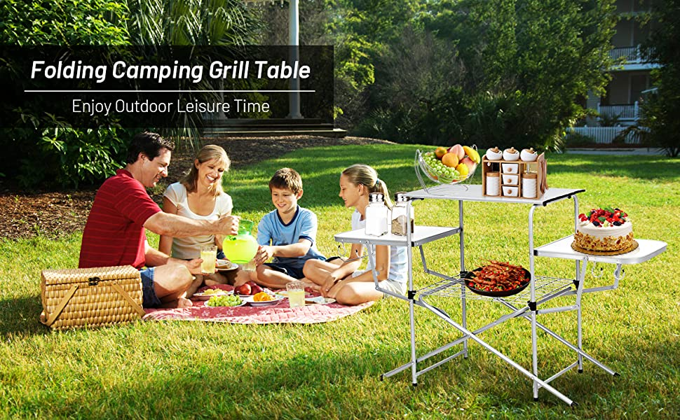 Folding Grilling Table