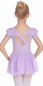 Girls Ruffle Sleeve Sparkle Ballerina Outfits