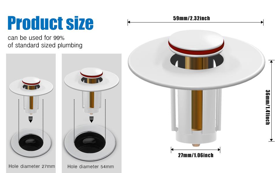 Drain sink stopper