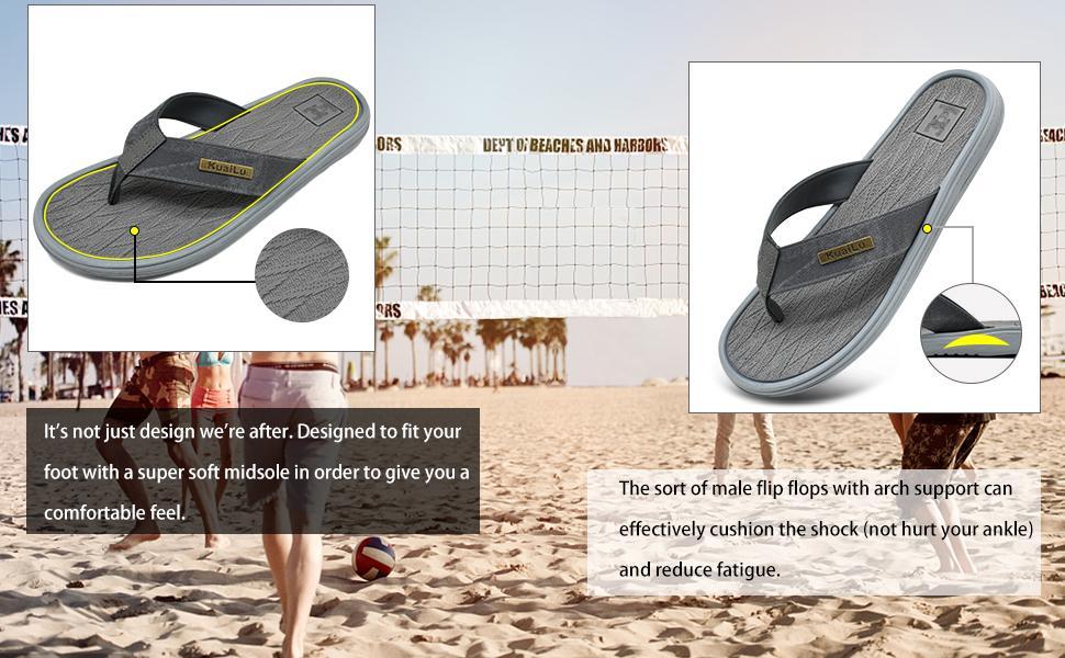 flip flops arch support