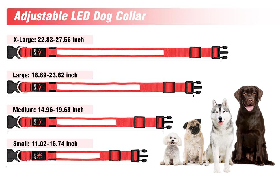 adjustable led dog collar