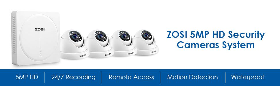 8GS-418W4-10 5.0MP Security Cameras System