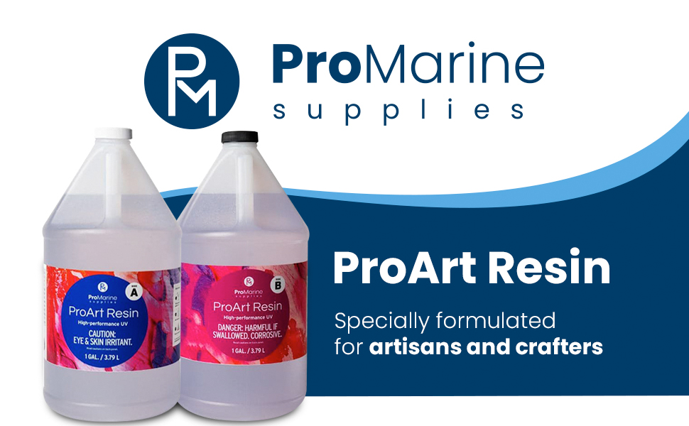 ProMarine ProArt Resin is specially created for artists and craftsmen to make resin art and crafts