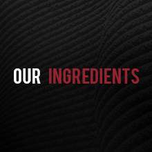 """Black background with """"Our Ingredients"""" text"""