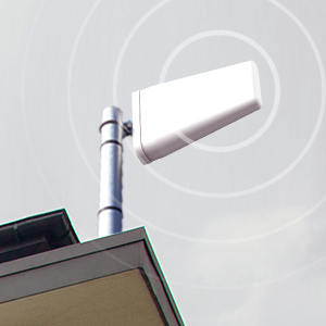 Outdoor antenna receives signal from nearest cell phone tower and send it to booster.