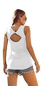 Womens Summer Sleeveless T-Shirt