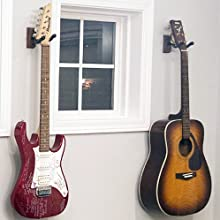 Guitar wall mount for acoustic electric guitar